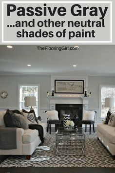 Neutral shades of paint - Passive Gray by Sherwin Williams. Neutral gray. Neutral greige. #neutral #paint #shades #gray #greige #homedecor #diyhomedecor