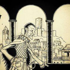 Cervantes Vélez-Málaga Dibujo Ilustración