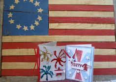 spirit of the 4th of July is made with handmade paper in these cards add some scrapbook paper