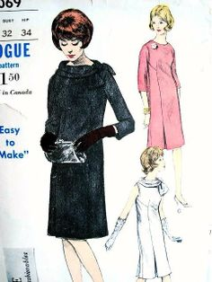 1960s dress with a sort of kick-pleat in the front seam(s)... in other words, the pleats are placed very low, close to the hem, on this dress.