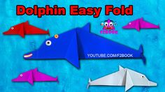 How To Make Origami Dolphin Easy For Kids || F2BOOK Videos 118
