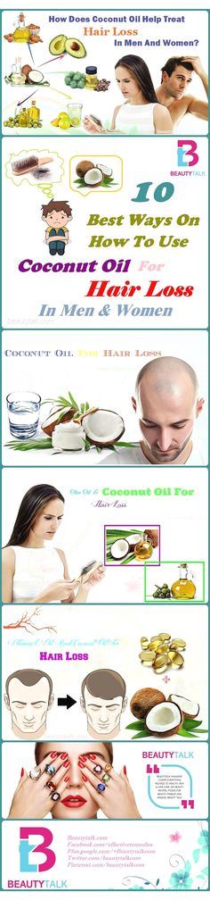 10 Best Ways On How To Use Coconut Oil For Hair Loss Treatment In Men Women #BestHairLossShampoo