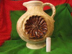 Vintage Stoneware Pitcher  Vase West Germany Dumler Breiden Large 11 Inc #WestGermany #DumlerBreiden