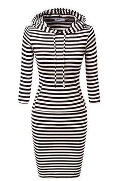 Cupshe Between the Lines Hooded Dress