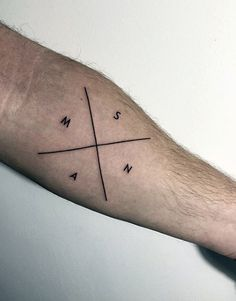 Cross Guys Tattoo Fine Line Style