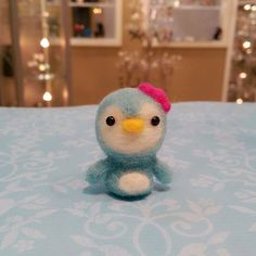Needle Felted Baby Penguin Brooch Felted by DesignedbyAbble