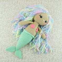 Crochet gorgeous gifts for little sirens using this Aurora Mermaid Amigurumi Pattern. Vary colors and accessories!