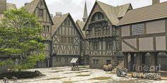 medieval house drawing - Google zoeken