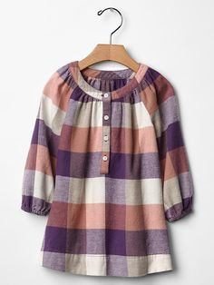 Checkered flannel dress Product Image