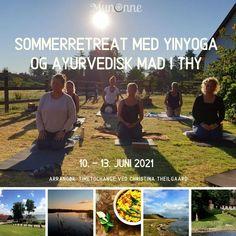 Nyd den danske sommer og forkæl dig selv med yinyoga og ayurveda. Tag med til en skøn forlænget weekend i smukke omgivelser i Thy og mærk, hvordan kombinationen af yinyoga, ayurvedisk mad og skøn natur kan give dig balance i krop og sind. Vi har sammensat et program, hvor der både i yinyogaen og i maden er fokus på at give velvære til din krop og til dit sind. Yinyogaen vil have fokus på de 3 yin instrumenter – Søvn- Fordøjelse og Udrensning, ligesom maden vil støtte op om de samme… Yoga Nidra, Pitta, Balance, Juni, Ayurveda, Meditation, Movies, Movie Posters, Corona