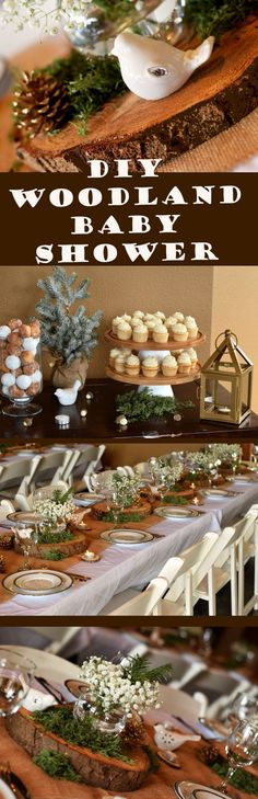 learn how you can throw an amazing woodland baby shower with minimal effort by diy projects
