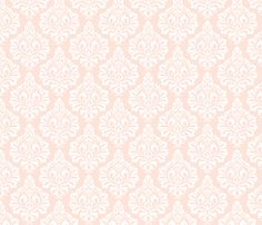 Wedding Bells Damask: Blush fabric by nadiahassan on Spoonflower - custom fabric