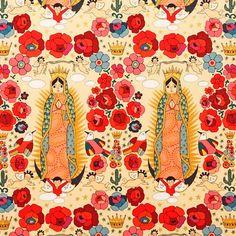 La Virgencita -  Alexander Henry Mexican Folklorico 1 Yard Fabric. $10.50, via Etsy.