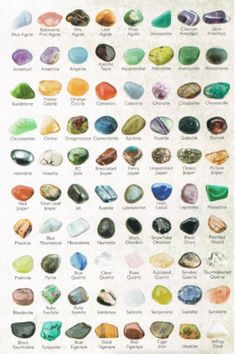 Stones, including my favorite, chrysoprase!