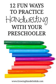 12 fun ways to practice handwriting with your preschooler, hands-on activities for pre-writing practice.