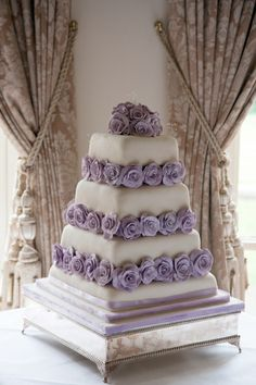 Pretty Soft Cake with Light Purple Flowers