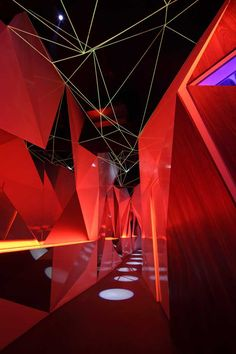 INSIDE World Festival of Interiors Shortlist // ♂ Commercial interior space design red Club Ambiance, Design Corporativo, Lounge Bar, Nightclub Design, World Festival, Stage Design, Art Furniture, Commercial Interiors, Art Plastique