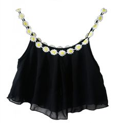 Amazon.com: Lookbookstore Women Sweet Daisy Chiffon Stretch Overlay Bralet Crop Top Bustier: Clothing