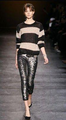 Isabel Marant Fall 2010, stripes + sequins