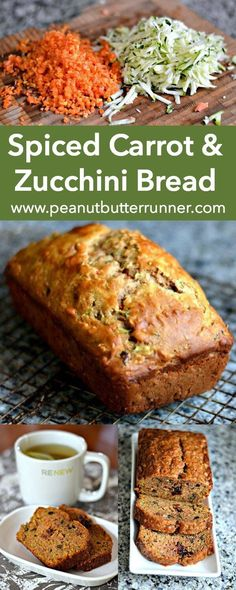 A quick bread packed with tons of cinnamon and nutmeg carrots zucchini orange zest dried cranberries walnuts and coconut oil. A great way to use summer zucchini! - Breads - Ideas of Breads Carrot Zucchini Bread, Carrot Bread Recipe, Zucchini Bread Recipes, Orange Zucchini Bread Recipe, How To Freeze Zucchini, Cranberry Zucchini Bread, Courgette Bread, Carrot Cake Bread, Cranberry Walnut Bread