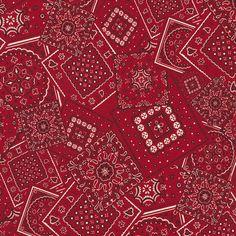 Bunk House Bandana Fabric by the Yard   Carousel Designs