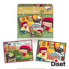 3 AÑOS_ PUZLE CAPERUCITA ROJA 2 puzles de 20 piezas, del cuento clásico de la Caperucita Roja.Las ilustraciones representan las escenas principales del cuento, con los personajes conocidos por todos los pequeños.
