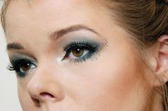 smoky eyes zielono niebieskie