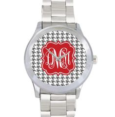 Monogram Stainless Steel Watch - Houndstooth