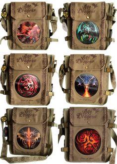 Anne Stokes 3D Lenticular Dragon Skull Side Bag - £27.50 : From ANGEL CLOTHING