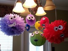 A very easy, cute DIY Monster birthday party decorations. A very easy, cute DIY Little Monster Birthday, Monster 1st Birthdays, Monster Birthday Parties, Boys First Birthday Party Ideas, Baby 1st Birthday, Birthday Party Decorations, Halloween Decorations, Little Monster Party, Monster Inc Party