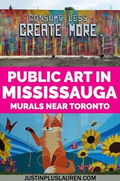 There's an amazing pop-up art installation by the lake in Mississauga! Lakeview Village has beautiful murals that are outdoor art installations, free to the public to visit anytime. Here's where you can see them and how to plan your visit!  #Mississauga #Toronto #Ontario #Canada #PublicArt #Murals  Street art near Toronto   Toronto street art   Mississauga street art   Mississauga murals   Mississauga public art   Free things to do in Mississauga   Free things to see in Mississauga Toronto Street, Pop Up Art, Free Things To Do, Outdoor Art, Lake View, Public Art, Installation Art, Stuff To Do, Street Art