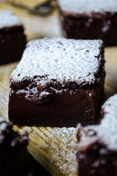 Chocolate Magic Custard Cake | giverecipe.com | #cake #chocolate #custard…