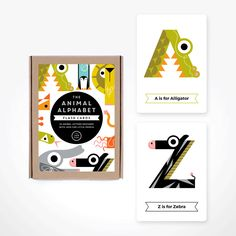 These stylised alphabet cards will help the little ones in the family learn the basics while guessing and having lots of fun