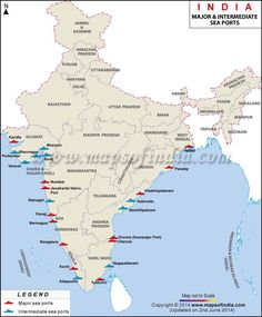 India mineral map india pinterest minerals india and natural find the list of major sea ports in india map highlights the location of intermediate and major sea ports in india thecheapjerseys Gallery