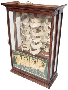Country store collar display cabinet, E & W Collars, : Lot 1139