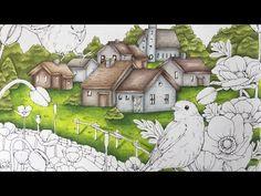 MENUET DE BONHEUR - prismacolor pencils - part 1 - YouTube