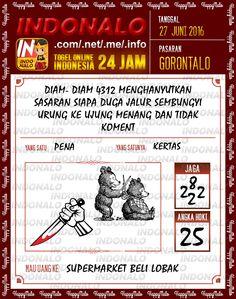 Prediksi Togel Online Live Draw 4D Indonalo Gorontalo 27 Juni 2016