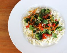 On a Paleo or Whole30 diet? Try this cauliflower rice . . . just as good as the real thing, we promise!