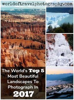 Pack your bags because these are the top 5 most beautiful landscapes from around the world!