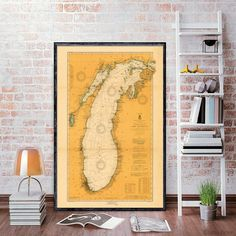 New Jersey relief map reprint 6 largeXL sizes up to 40x30 and three color schemes Vintage New Jersey map reprint