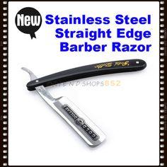 Barber Straight Edge Cut Throat Razor Steel Blade Shave £3