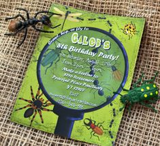 Boy Bug Party Invitations  Printable by ThePartyArtisan on Etsy, $14.99