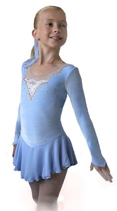 skating dress - would be pretty in teal or white as well