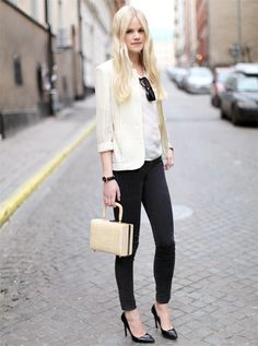 simple + cute  Transparent blazer, watch and bag, Vintage | Sunglasses, The Local Firm | Jeans Won Hundred | Heels, Kurt Geiger