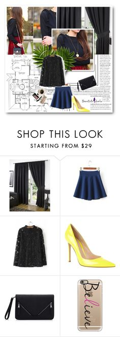 """""""B.halo20"""" by gold-phoenix ❤ liked on Polyvore featuring WithChic, Gianvito Rossi, Bobbi Brown Cosmetics, Casetify, beautifulhalo and bhalo"""