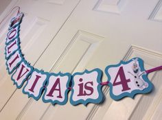 Frozen Birthday Banner by SavorEachSecond on Etsy, $20.00