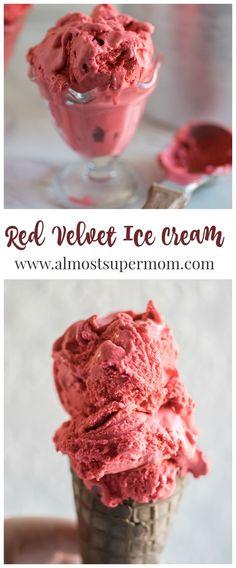 Red Velvet Ice Cream. Creamy, dreamy and delicious. This ice cream recipe is the perfect indulgent treat.