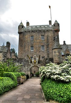 Cawdor Castle is a tower house in the parish of Cawdor, about 10 miles east of Inverness and 5 miles southwest of Nairn. The castle has evolved over 600 years. Additions made in the 17th century were all built with slated roofs and crow-stepped gables. The castle has beautiful gardens, including a walled garden originally planted in the 17th Century.