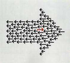 Anton Stankowski / Der Pfeil: Spiel, Gleichnis, Kommunikation (The Arrow: Game, Allegory, Communication) (1972) conceptual design