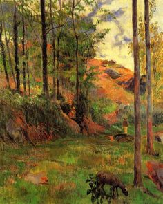 Path down to the Aven by Paul Gauguin.